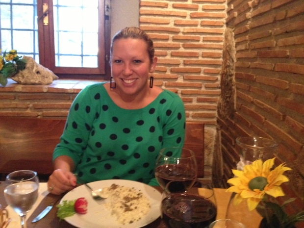 Dining on risotto with local black truffles & house-made wine in Croatia