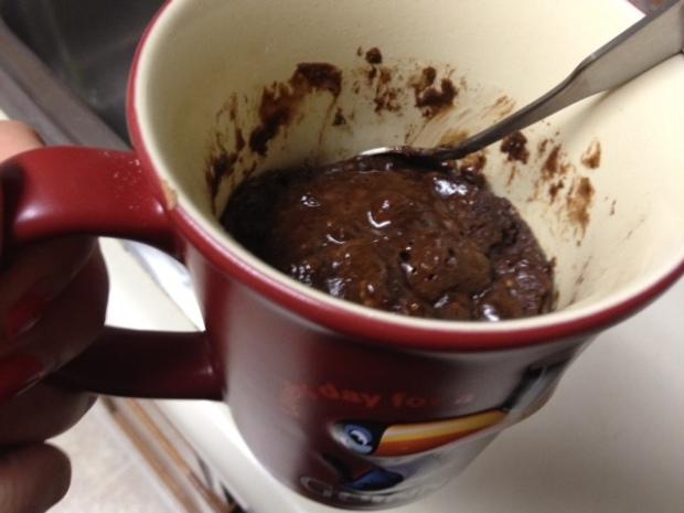lava mug cake cooked