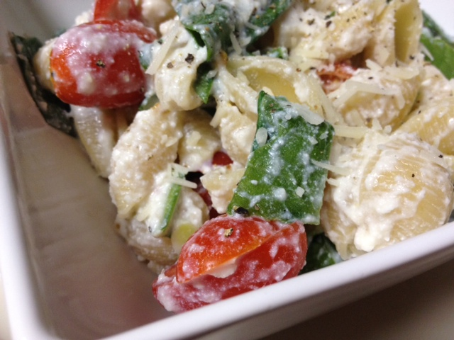 ... roasted tomatoes pasta with fresh spinach tomatoes and roasted garlic