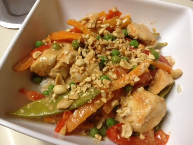 thai crockpot chicken finished