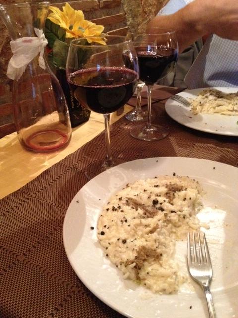 motovun truffle risotto wine