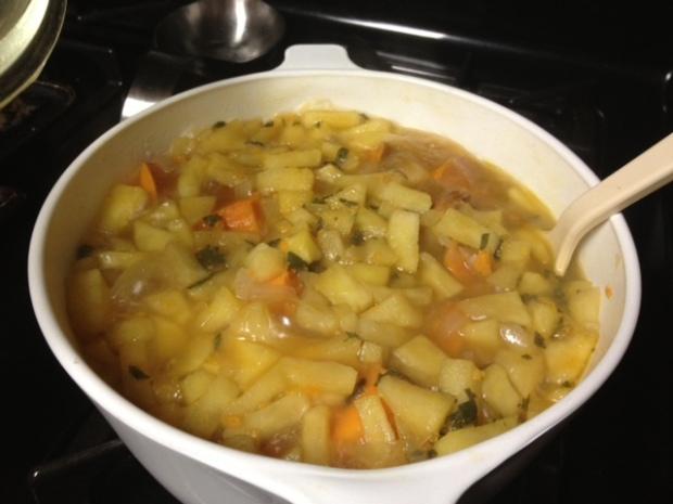 sweet potato soup boiled