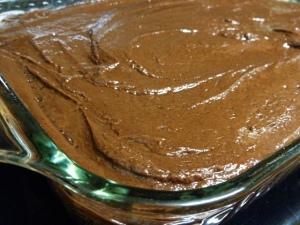 black magic cake finished