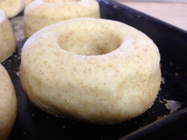 mom donuts cutout risen closeup