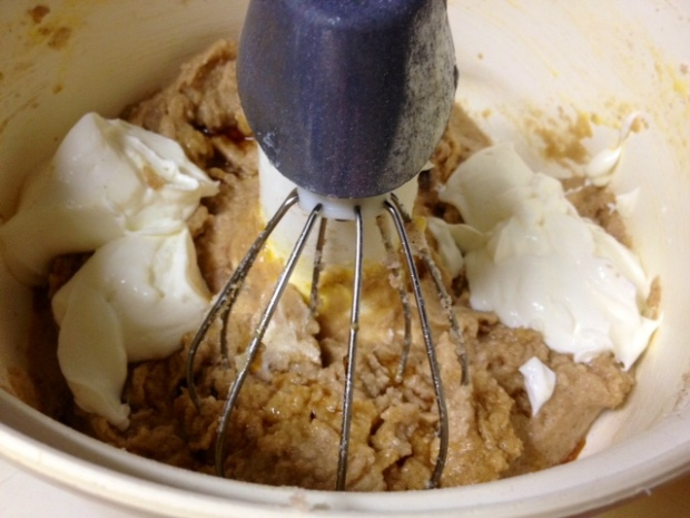 snickerdoodle bread batter sour cream