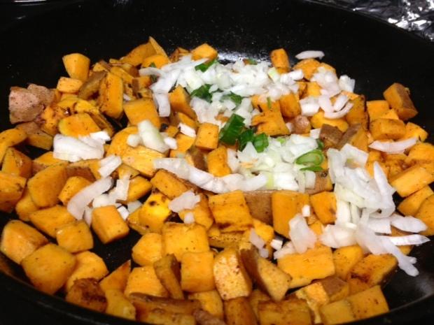 sweet potato frittata sweet potatoes onions
