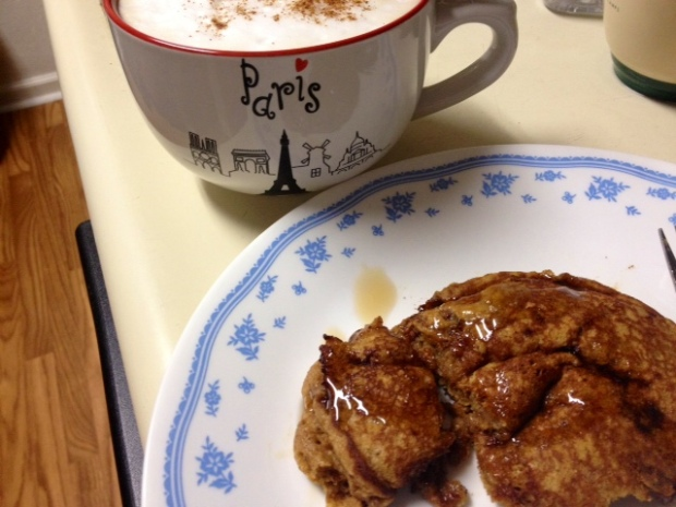 whole wheat gingerbread pancakes finished