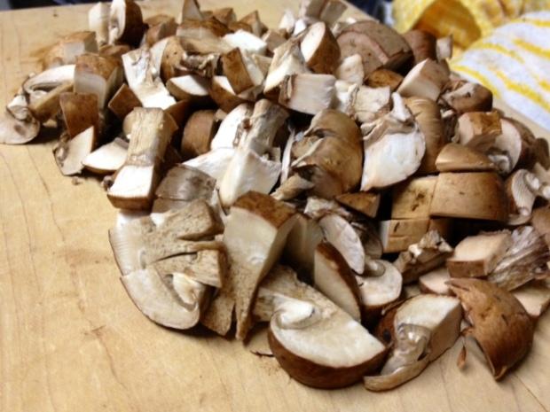 rosemary chicken lasagna mushrooms chopped