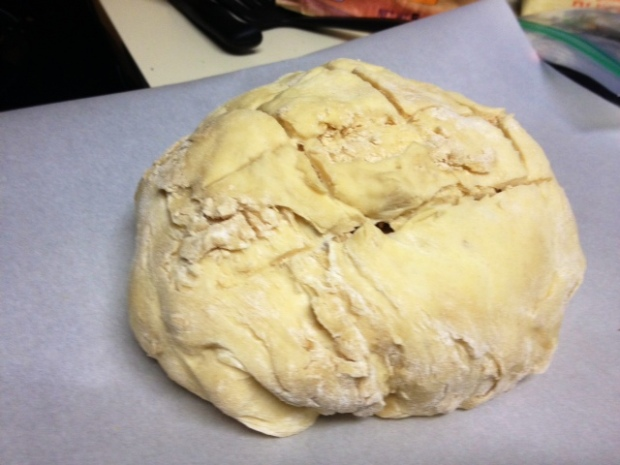 amish bread dough crisscrossed