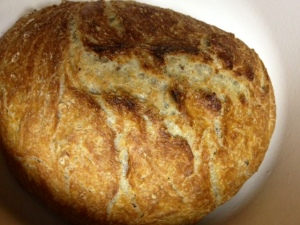 no knead bread finished