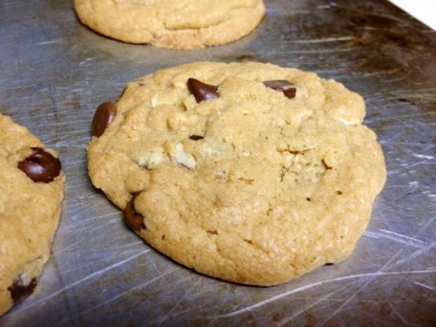 peanut butter oatmeal choc chip cookies finished
