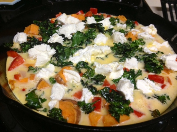 sweet potato red pepper frittata assembled2