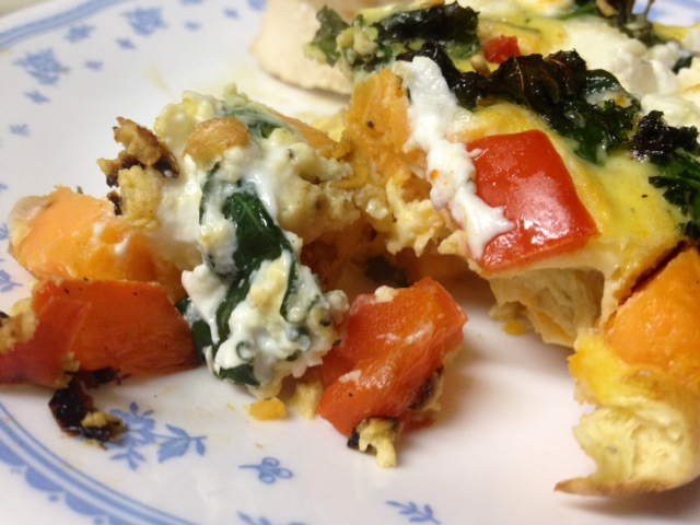 Sweet Potato, Red Pepper, & Kale Frittata with Goat Cheese – finding ...