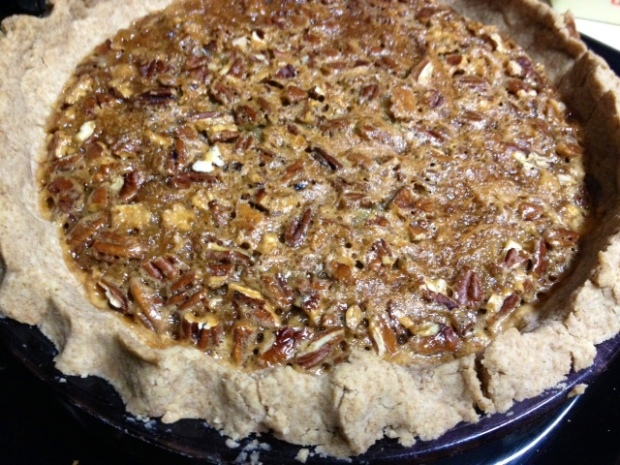 maple bourbon pecan pie finished