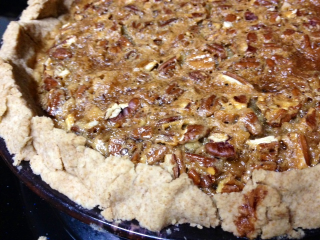 Maple Bourbon Pecan Pie – finding time for cooking