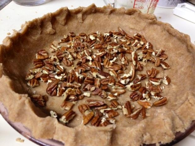 maple bourbon pecan pie pecans