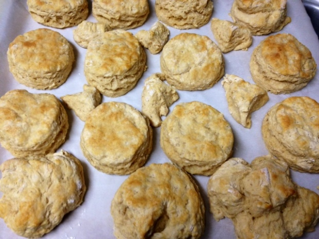 whole wheat biscuits finished