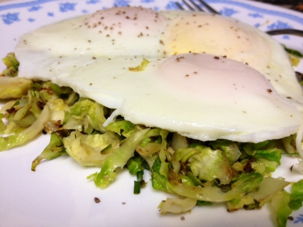 basted eggs with brussels sprouts2