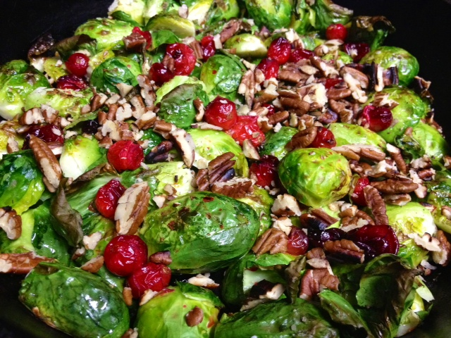 Roasted Brussels Sprouts with Cranberries & Gorgonzola – finding ...