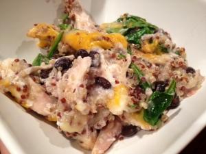 chicken quinoa veggie bake finished