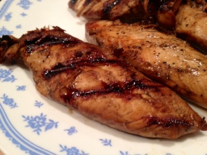 grilled balsamic chicken finished