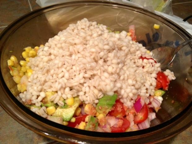 chicken barley corn salad barley
