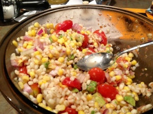 chicken barley corn salad finished2