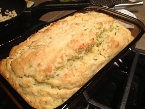 lemon zucchini bread baked