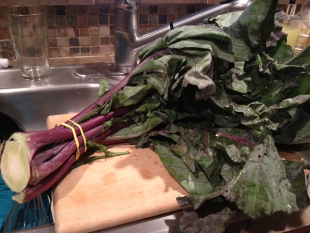 kohlrabi greens & stems whole