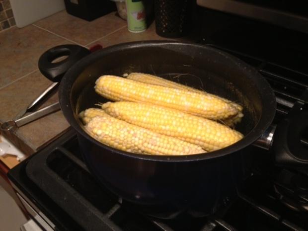 creamy charred corn & leek fettuccine corn cooking