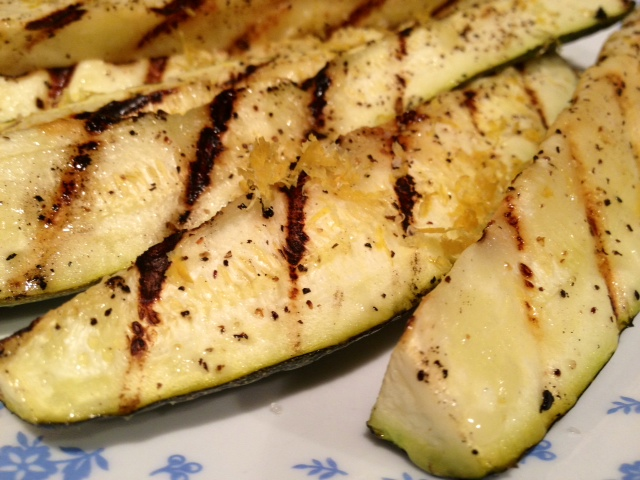 Grilled Zucchini with Lemon Salt – finding time for cooking