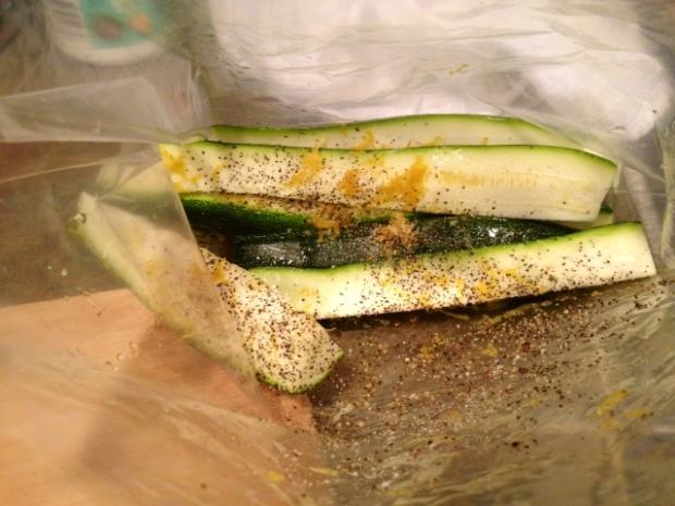 grilled zucchini with lemon salt seasonings