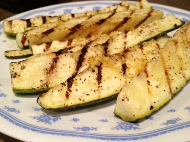 Grilled Zucchini With Yummy Lemon Salt Recipe — Dishmaps