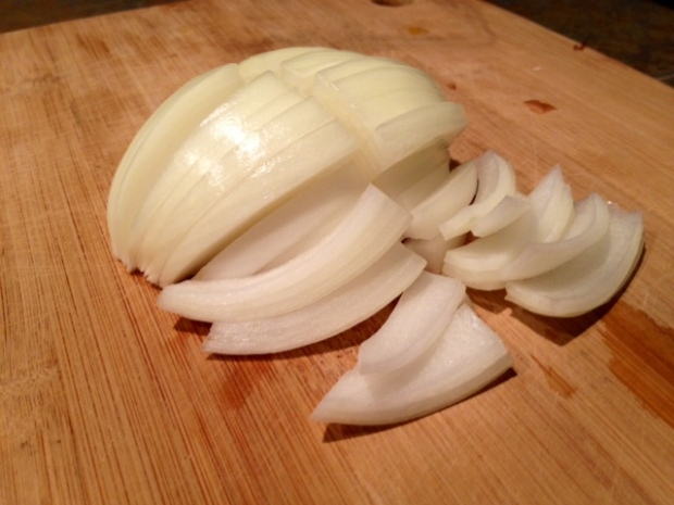 one-pot farro onion sliced
