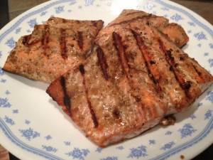 Soy Glazed Grilled Salmon