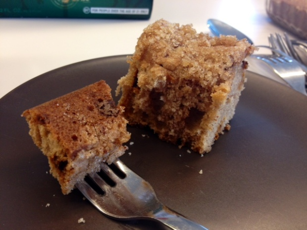 Apple Cinnamon Chip Coffee Cake piece