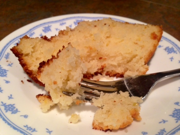 Lemon Ricotta Pound Cake slice