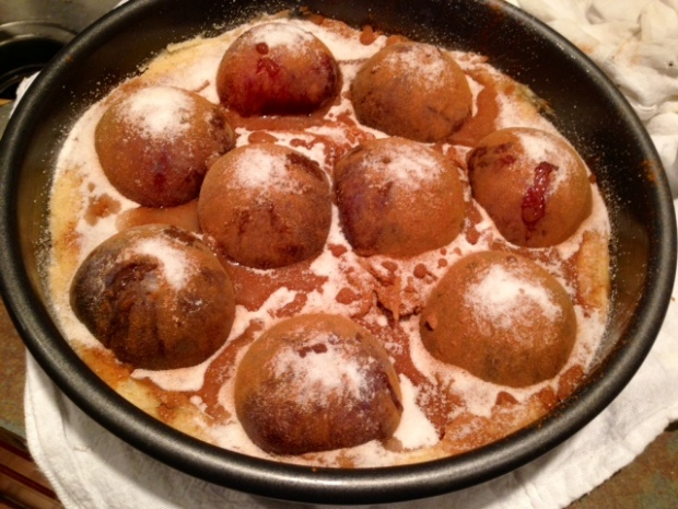 plum torte batter pan plums cinnamon