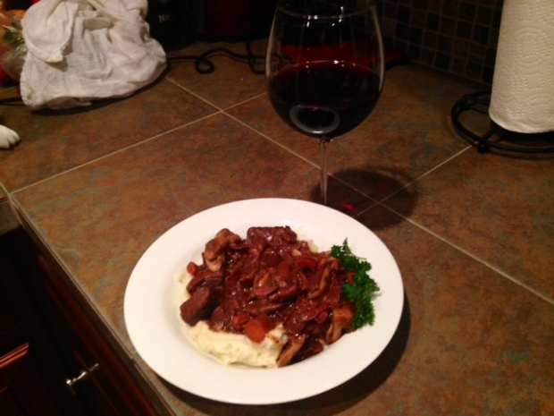 Julia Child's Boeuf Bourguignon with Wine