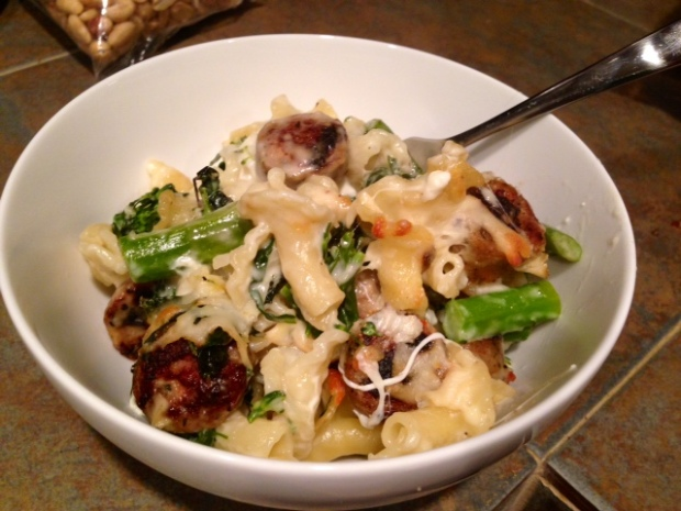 Baked Pasta with Broccolini Kale & Chicken Sausage 2