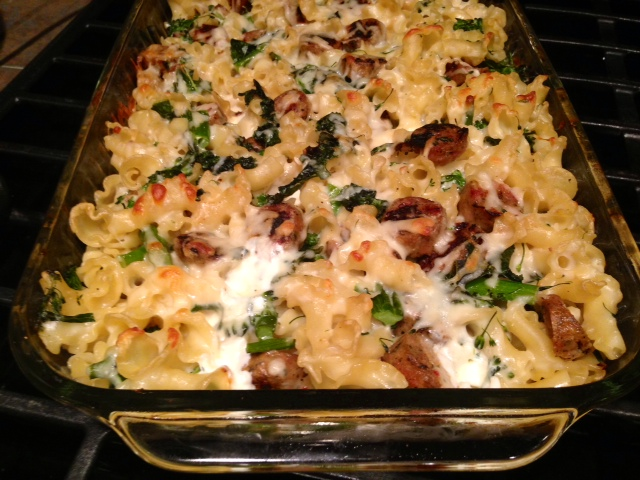 sausage spicy sausage and kale baked baked ziti with italian baked ...