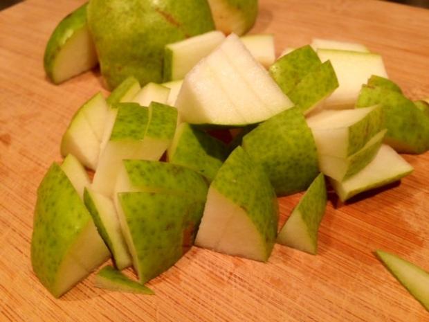 pear honey jam pears diced