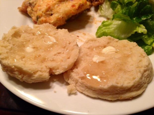 cream biscuits butter honey