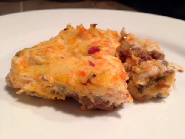 Shepherds Pie with Carrot Goat Cheese Mash