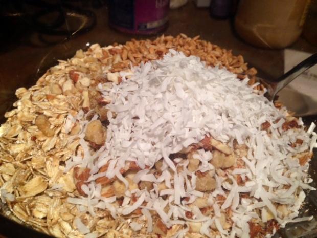 quinoa nut maple granola coconut