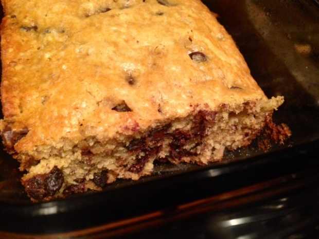 Grandma's Chocolate Chip Banana Bread sliced
