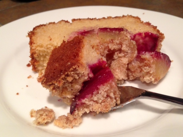 Fluffy Plum Cake with Almond Crumbles