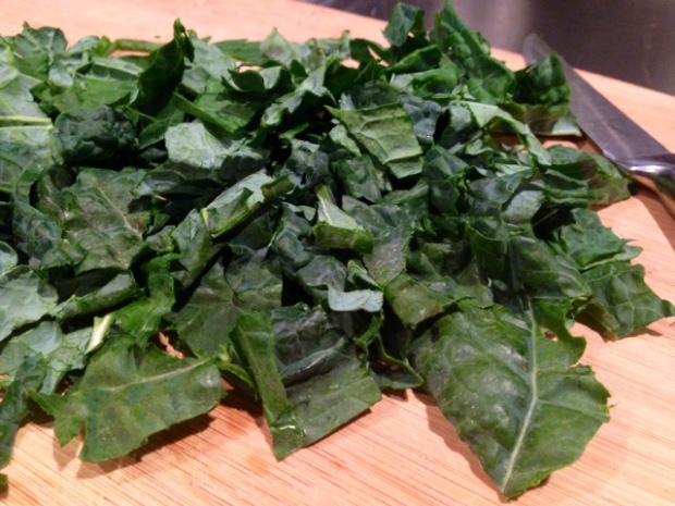 kale & walnut pesto with whole wheat pasta kale chopped