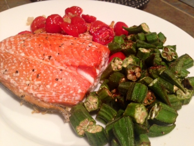 Roasted Salmon with Shallots & Tomatoes 2