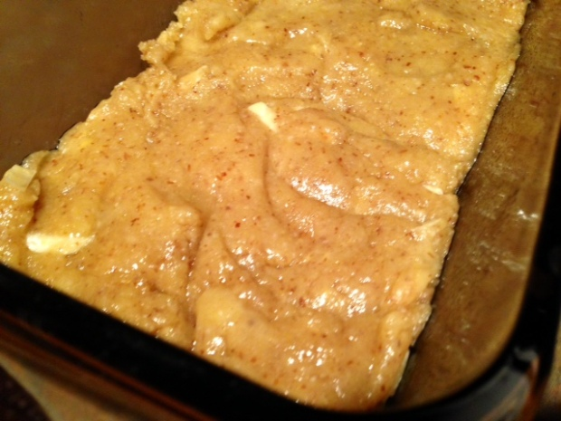 unleavened almond bread batter pan
